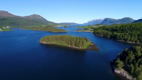 Cover Image for Aerial Footage Beautiful Nature Norway.