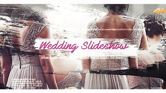 Hochzeit-Pinsel-Diashow