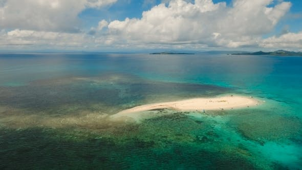 Thumbnail for Aerial View Beautiful Beach on Tropical Island Siargao Island, Philippines