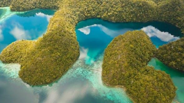 Thumbnail for Aerial View Tropical Lagoon,sea, Beach Tropical Island Siargao, Philippines