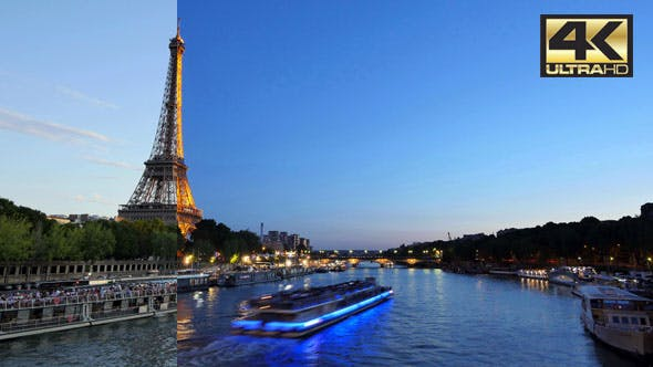Thumbnail for Eiffel Tower in Paris Time Lapse from Day to Night
