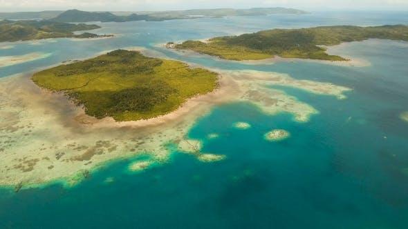 Thumbnail for Aerial View Tropical Lagoon,sea, Beach Tropical Island Siargao, Philippines.
