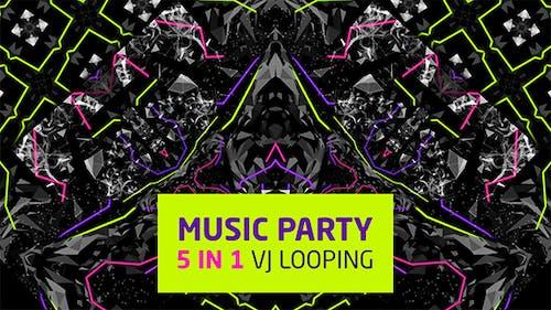 Musik Party 5 in 1 Vj Loops