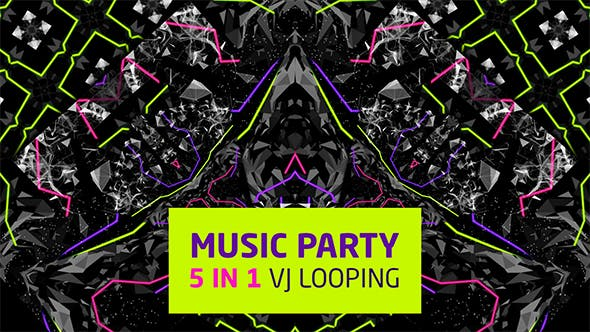 Thumbnail for Music Party 5 In 1 Vj Loops