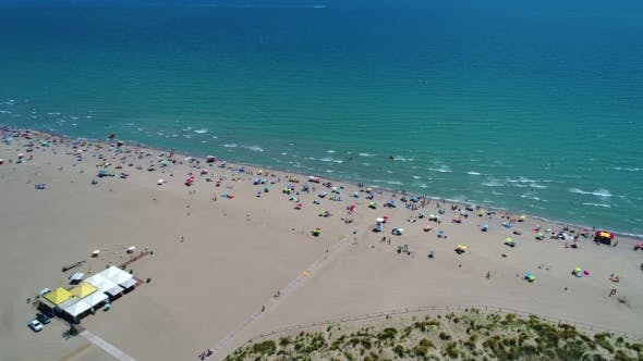 Cover Image for Italy, the Beach of the Adriatic Sea. Rest on the Sea Near Venice