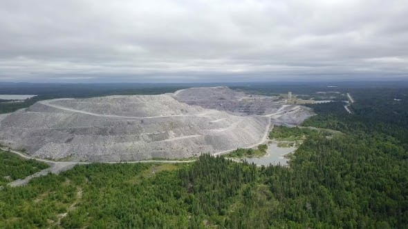 Thumbnail for Rising Aerial Reveal Open-pit Gold Mine Northern Ontartio, Canada