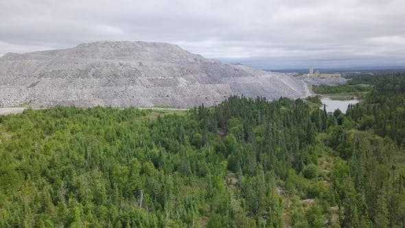 Thumbnail for Aerial Drone Pull Away From Open-pit Gold Mine
