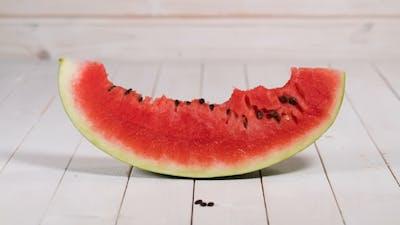 Eating Watermelon Slice