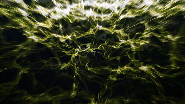 Thumbnail for Gold and Blurred Waves Background Loop