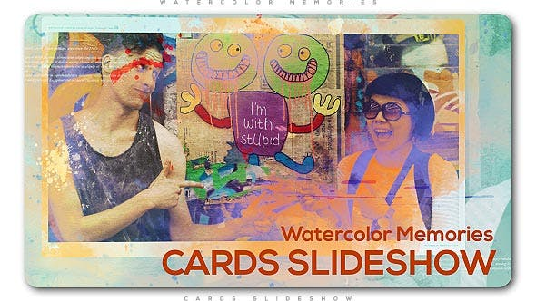 Thumbnail for Watercolor Memories Cards Slideshow