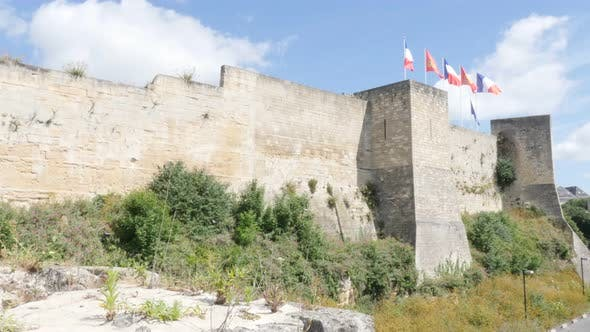 Thumbnail for CAEN, FRANCE - AUGUST 2015 Famous  William the Conqueror castle fortification by the day