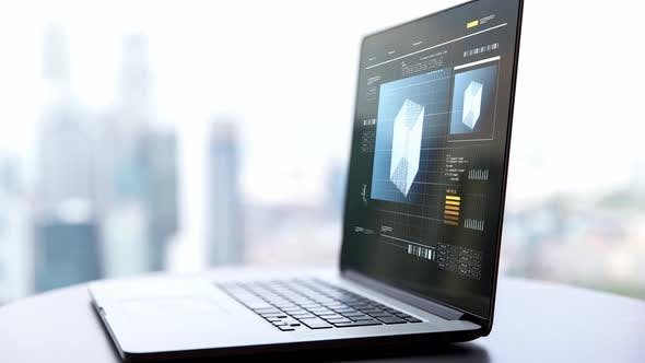 Thumbnail for Laptop Computer with Virtual Projection on Screen