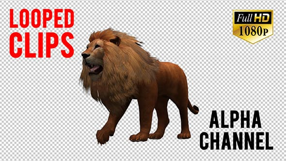 Thumbnail for 3D Lion Animation 8