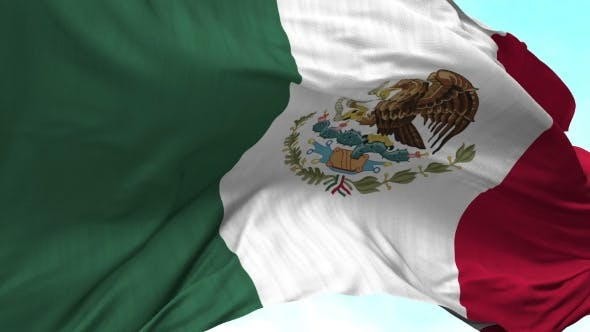 Thumbnail for Mexico Flag in the Wind