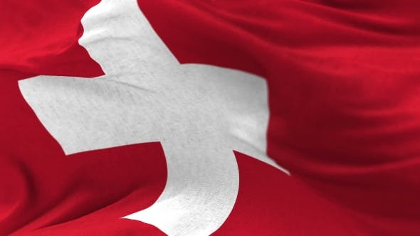 Thumbnail for Switzerland Flag in the Wind