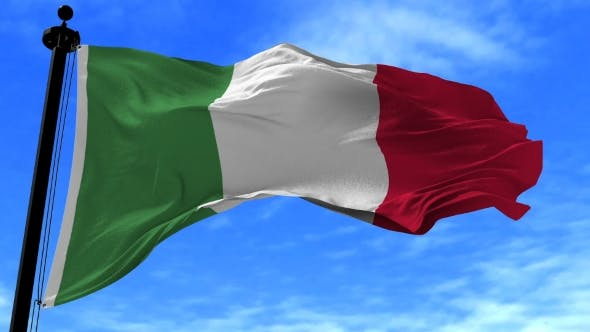 Thumbnail for Italy Flag in the Wind