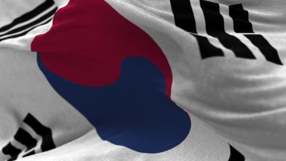 Thumbnail for South Korea Flag in the Wind