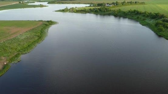 Thumbnail for River at Morning Birds Eye View