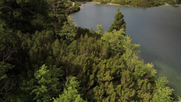 Thumbnail for Aerial View of Lake in Mountains