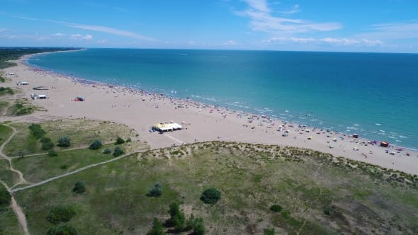 Thumbnail for Italy, the Beach of the Adriatic Sea. Rest on the Sea Near Venice