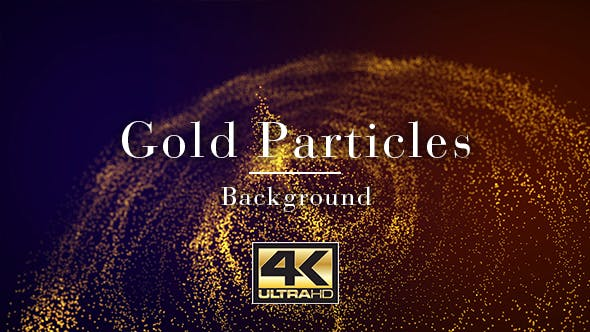 Thumbnail for Gold Particles Background