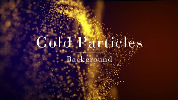 Cover Image for Gold Particles Background
