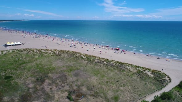 Thumbnail for Italy, the Beach of the Adriatic Sea. Rest on the Sea Near Venice. Aerial FPV Drone Flights.