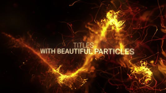 Abstract Particles Titles Trailer