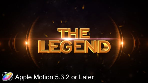 Thumbnail for The Legend - Cinematic - Apple Motion