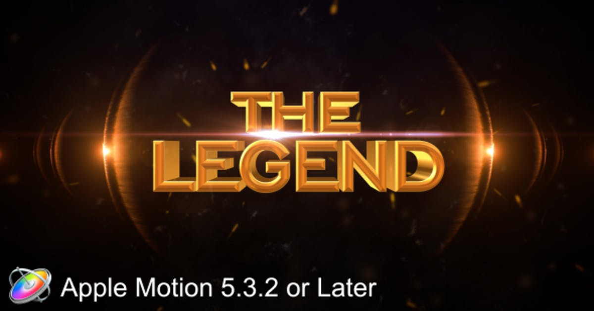 Download The Legend - Cinematic - Apple Motion by VProxy