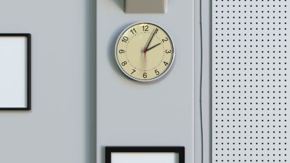 Thumbnail for Office Clock Measuring Off One Hour