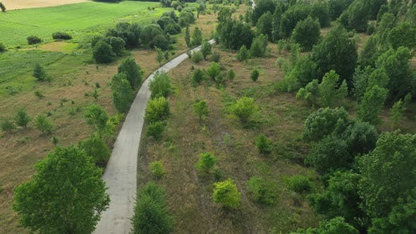 Thumbnail for Aerial View Country Road In Nature