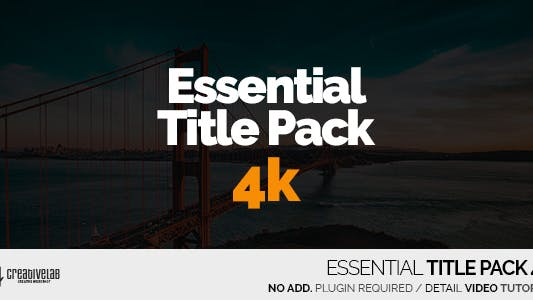 Thumbnail for Essential Title Pack 4K