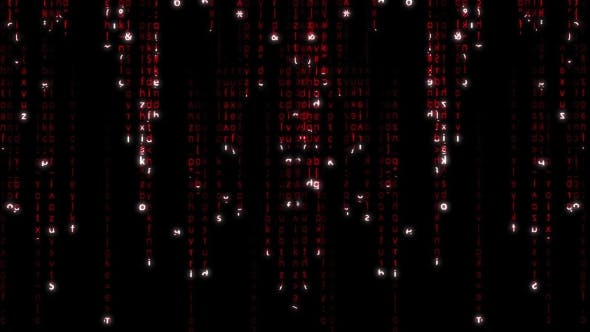 Thumbnail for Falling Red Matrix Code