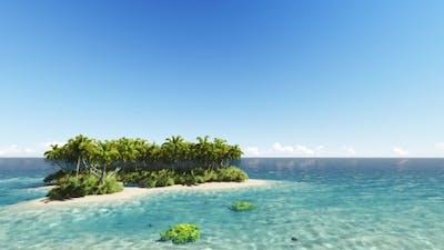 Tropical Island and Clear Sky