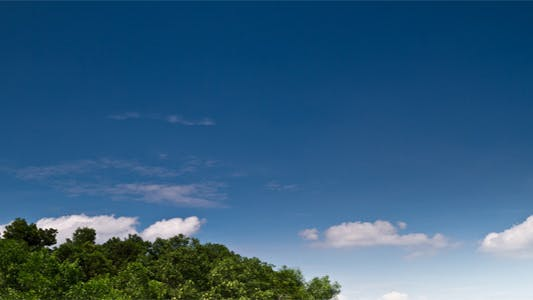 Thumbnail for Tropical Blue Sky With Moving Clouds I- Time Lapse