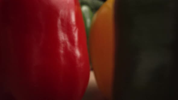 Thumbnail for Zoom in macro video of disappearing peppers. Shot with RED helium camera in 8K