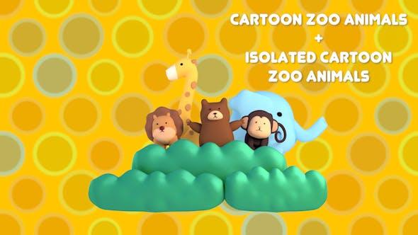 Cartoon Zoo Animals Pack