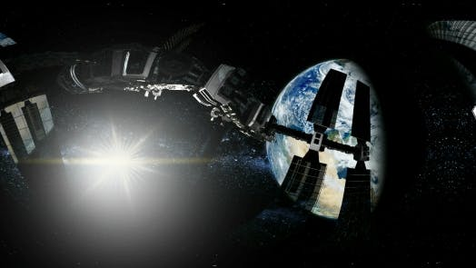 Thumbnail for International Space Station Orbiting Earth in Virtual Reality