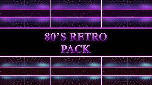 80er Jahre Retro Background Pack