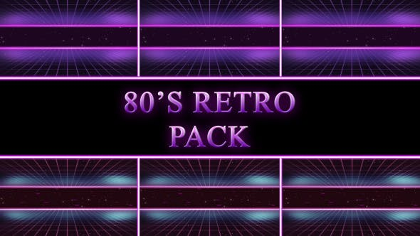 80s Retro Background Pack