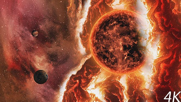Thumbnail for Fire Space Nebula with Solar and Planets
