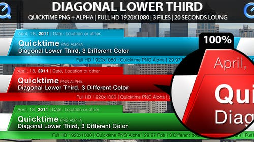 Diagonal Lower Third