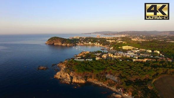 Thumbnail for Mediterranean Coast Seaside Aerial Drone Costa Brava