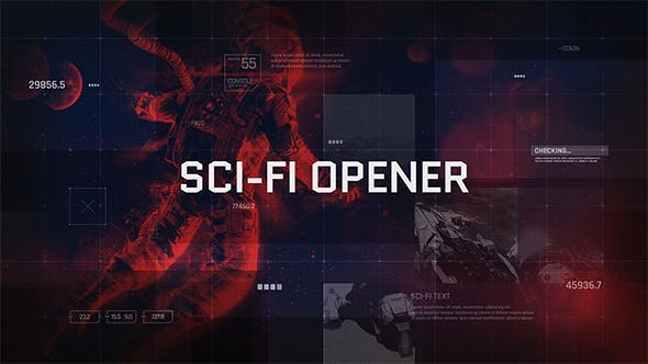 Cover Image for Sci-Fi Opener / Hi-Tech Slideshow / Futuristic Film Credits / HUD Elements / Space Science