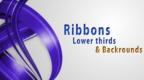 RIBBONS Lower thirds & Backgrounds AE project