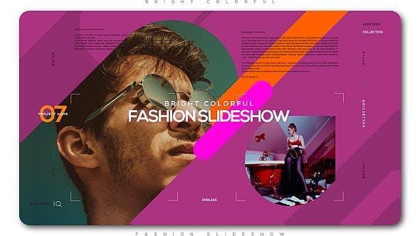 Bright Colorful Fashion Slideshow
