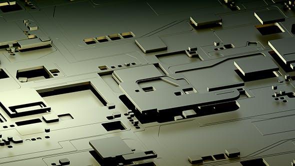 Futuristische industrielle Formen