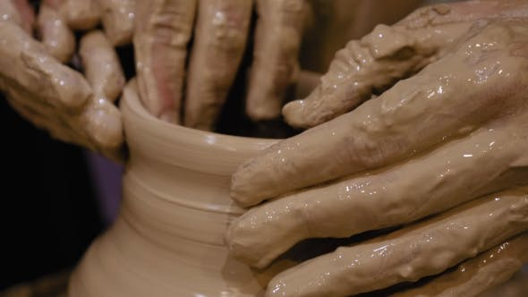 Thumbnail for Potter Is Making Clay Pot on the Potter's Wheel