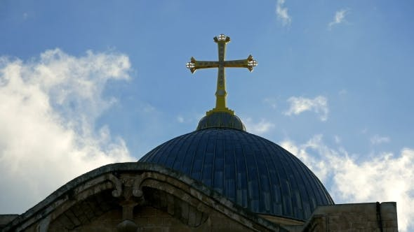 Thumbnail for Cross on Temple of the Holy Sepulcher in Jerusalem